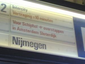 vertraging trein