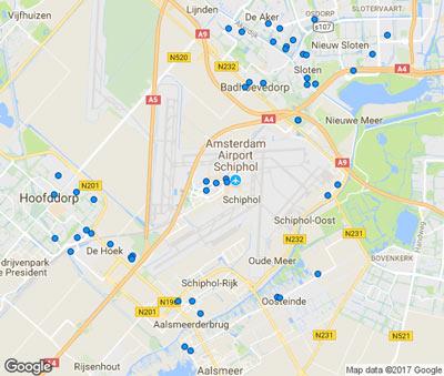 Plaatsen Rond Amsterdam.Park Sleep And Fly Parkeren En Overnachten Bij Schiphol